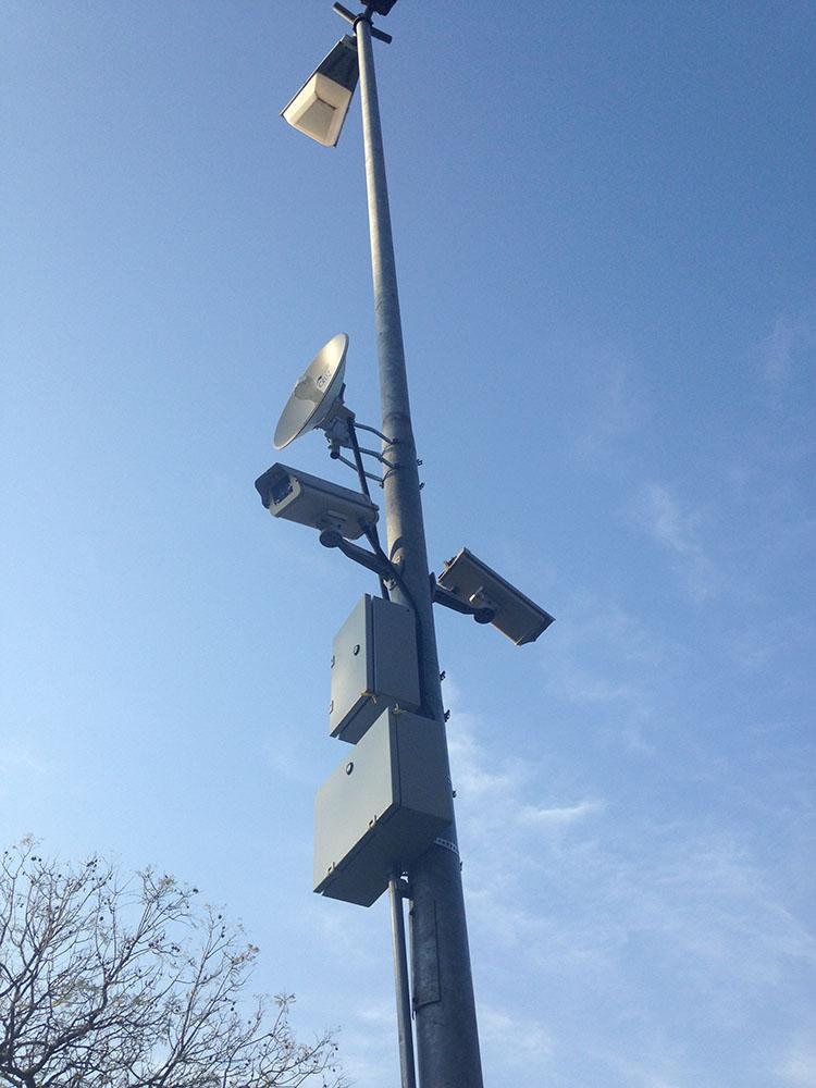 Sistemas de v�deo monitoramento implantados pela Cruz Engenharia.